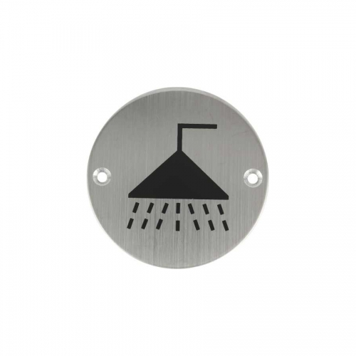 Stainless steel Shower Room Sign Plate SP017