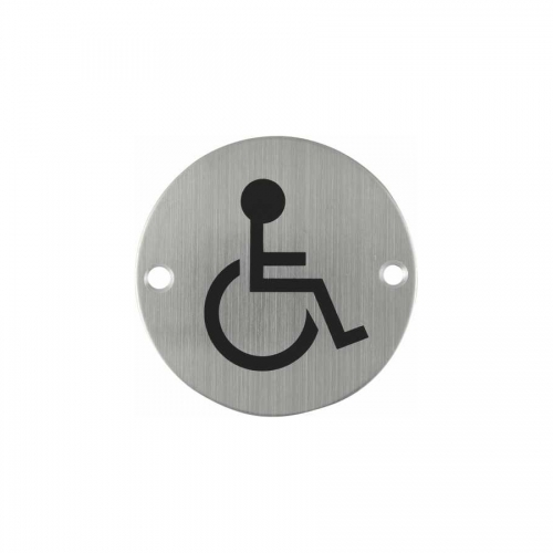 Toilet Sign Plate Stainless Steel Etching Sign Wc Sign SP013