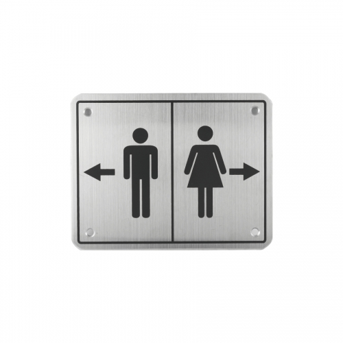 Toilet Sign Plate Stainless Steel Etching Sign