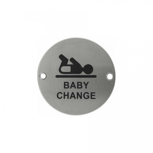 Stainless steel Baby change Sign Plate SP018